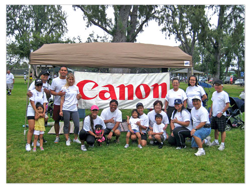 Canon Employees and their families gather to walk in the March for Babies event