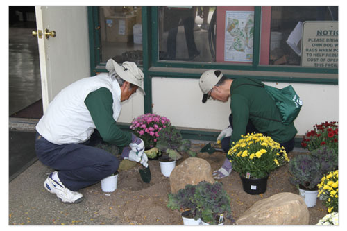 West Hills County Park  - Planting Flowers