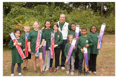 West Hills County Park  - Kids with Mr. Adachi