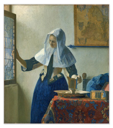 Young Woman with a Water Pitcher painted by Johannes Vermeer