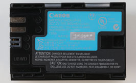 LP-E6 BATTERY BACK