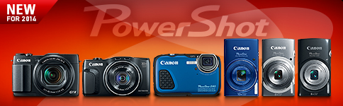 NEW FOR 2014 - PowerShot G1 X Mark II, SX700 HS, D30, ELPH 135, ELPH 140 IS, ELPH 150 IS >>