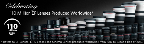 110 Million EF Lenses Produced Worldwide
