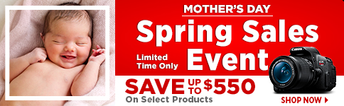 Check out these great spring savings on select Canon products