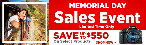 Memorial Day Sales Event Limited Time Only Save up to $550