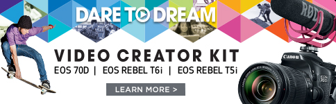 Video Creator Kit EOS 70D EOS Rebel T6i EOS REbel T5i