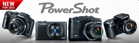 New PowerShot Cameras For 2013