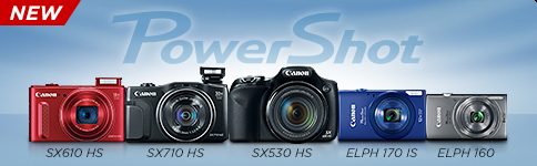 NEW POWERSHOT SX610 HS, SX710 HS, SX530 HS, ELPH 170 IS, ELPH 160 >