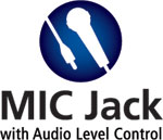 Mic Jack with Audio Level Control