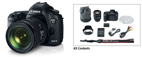 EOS 5D Mark III 24-70mm Lens Kit Box Content