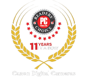 PC Mag Readers' Choice 8 years in a row Canon Digital Camera