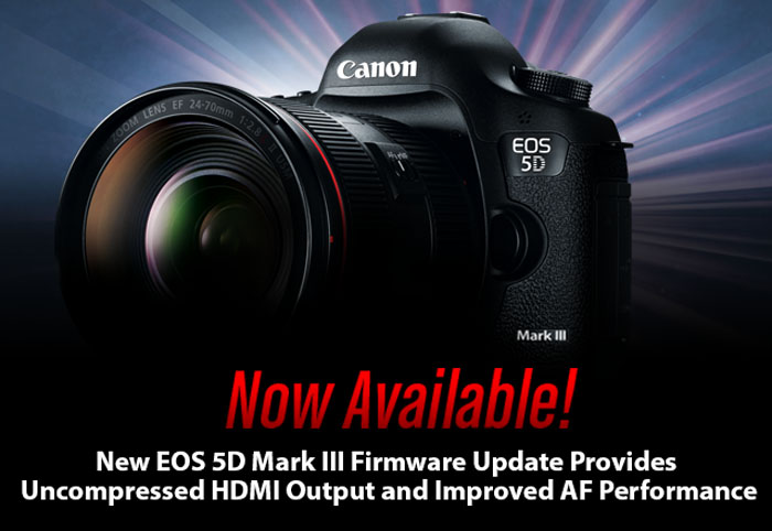 New EOS-5D MkIII X Firmware Update Now Available!