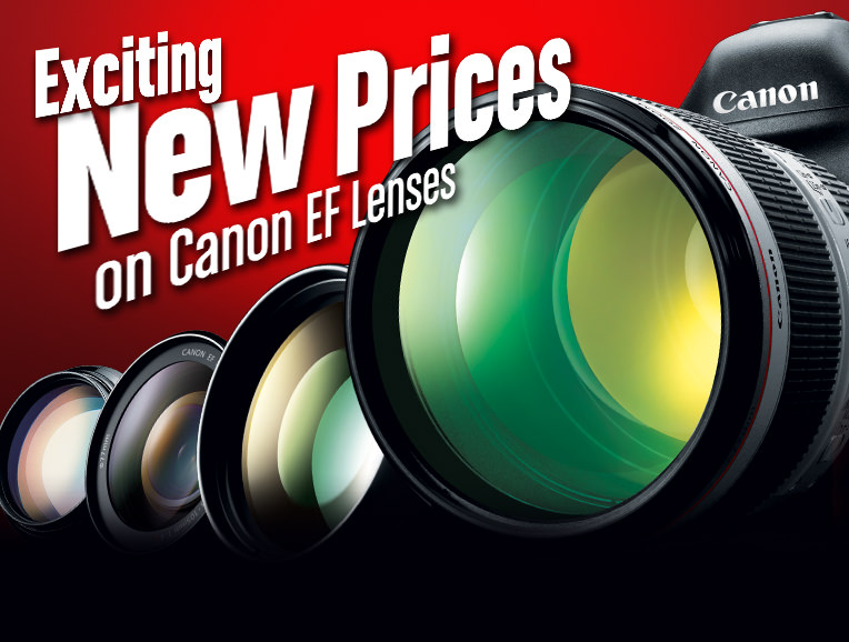 Exciting New Prices on Canon EF Lenses