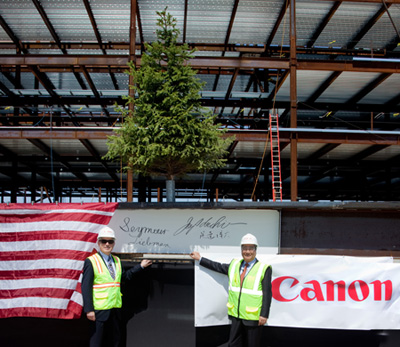 Setting Of The Last Segment Of Steel For Its New Canon Americas Headquarters
