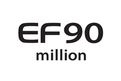 90 Million EF lenses Commemorative logo