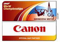 IAAF World Championships Moscow 2013 Sponsor composite logo