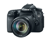 The EOS 70D digital SLR camera, featuring innovative autofocus technology