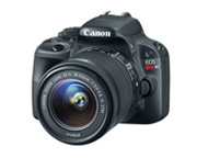 The EOS Rebel SL1 digital SLR camera, featuring the world's smallest and lightest body