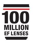 100 Million EF lenses commemorative logo