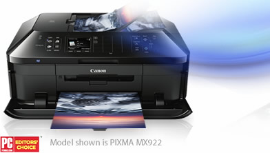 The PIXMA MX922 has been selected for the 2013 Editor's Choice Award by PCMag.