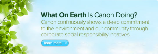 LEarn What Canon Is Doing For The Environment