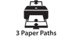 Three Paper Paths : Select from three paper paths (cassette, straight-through, and top loading) for maximum productivity and convenience.