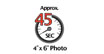 4 x 6 photo in 45 seconds : Photo printing speed - Thanks to the improvement of FINE print head and paper feeding mechanisms, photo lab quality prints can be delivered at high speed, at default setting.