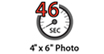 4 x 6 Photo in 46 seconds : Photo printing speed - Thanks to the improvement of FINE print head and paper feeding mechanisms, photo lab quality print can be delivered at high speed, at default setting.
