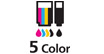 5 color ink tank