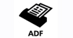 ADF : Handles big jobs - The automatic document feeder holds 30 originals, making it easier to copy, scan or fax large documents.