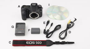 EOS 50D Kit Contents