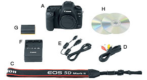 EOS 5D Mark II Kit Contents