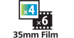 The special film guide allows you to scan 35mm negaitives and positive film.