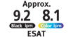 ESAT 9.2 Black ipm and 8.1 Color ipm