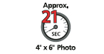 4 x 6 photo in 21 seconds : Photo printing speed - Thanks to the improvement of FINE print head and paper feeding mechanisms, photo lab quality print can be delivered at high speed, at default setting.
