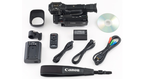 XF100 Camcorder Box Contents