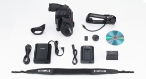 EOS C100 Mark II Box Contents