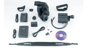 EOS C300 PL Box Contents