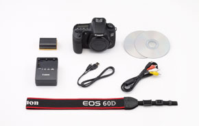 EOS 60D Kit Contents