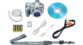 PowerShot S2 IS Kit Contents