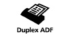 Duplex ADF : Equipped with an Auto Document Feeder that handles automatic duplex reading