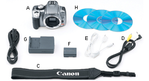 EOS Digital Rebel XT 18-55IS Kit Contents