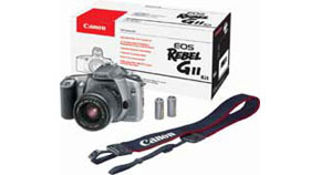 EOS Rebel GII Kit Contents