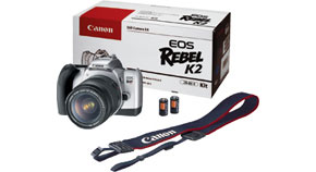 EOS Rebel K2 Kit Contents