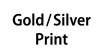 Golf and Silver Print : Gold And Silver Ink Cartridges