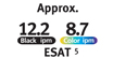 ESAT Approx. 12.2 black ipm, 8.7 color ipm