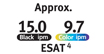 ESAT Approx. 15.0 black ipm, 9.7 color ipm