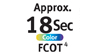 FCOT approx. 18 sec. for color : Maximum print resolution - Realizes the maximum resolution of 9600 x 2400 dpi. Provide premium photo quality, combined with microscopic ink droplets.
