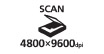 Scan 4800 x 9600 dpi : Spectacular Scans - Produce scans with spectacular resolution of up to 4800 x 9600 color dpi