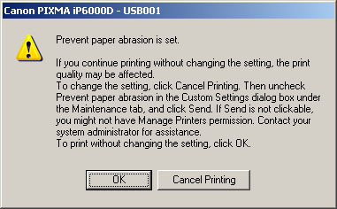 how to fix printer abrasion